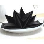 Origami black napkins