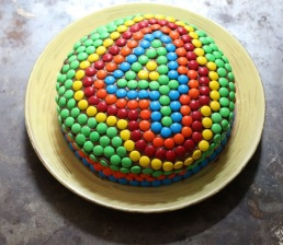 M&Ms Birthday Cake