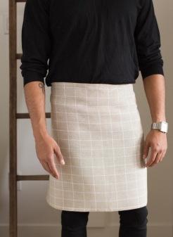 DS F18 Foundation Graph Paper Check Apron Towel